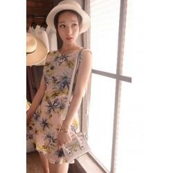 韩版连衣裙-单色椰子树-346