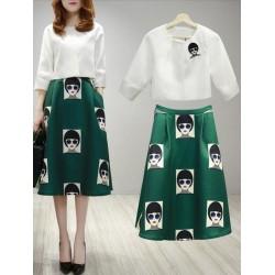 韩版套裙两件套 2038