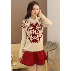 新款韩版两件毛衣连衣裙-1023