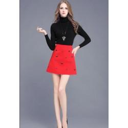 珠高腰半身裙包臀裙 1600