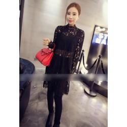 韩版小高领时尚显打底裙 1605